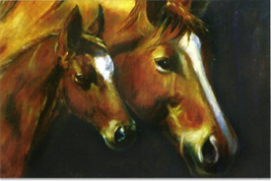 Mare and Foal     Notelets. 10 cards per pack , Blank inside,€5.
